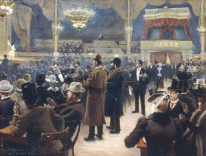At the Music Hall in the Cirkus Bygningen, Jernbaneegade by Paul Fischer