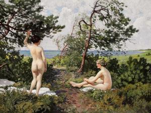 Bathing Girls by Paul Fischer