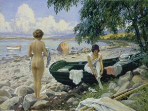 Bathng Girls on the Beach by Paul Fischer