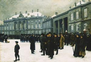 Changing of the Guard at Amalienborg Palace by Paul Fischer