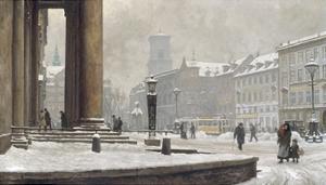 Figures entering the Law Courts, Nytorv Copenhagen by Paul Fischer