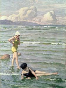 Girls Bathing by Paul Fischer