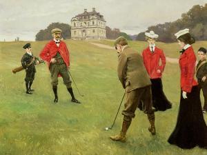 Golf Players at Copenhagen Golf Club by Paul Fischer