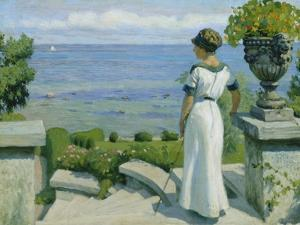 On the Terrace, 1912 by Paul Fischer