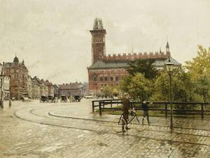 Raadhuspladsen, Copenhagen. 1893 by Paul Fischer