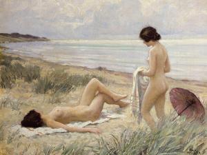 Summer on the Beach by Paul Fischer