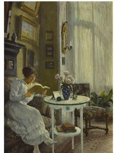 The Afternoon Read, 1917 by Paul Fischer