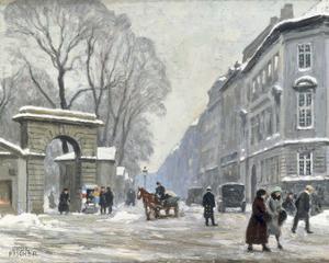 The Kongenshave in Winter by Paul Fischer