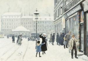 The Osterbrogade in Winter by Paul Fischer