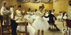 The Royal Theatre's Ballet School, 1889 by Paul Fischer