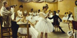 The Royal Theatre's Ballet School by Paul Fischer