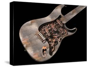 Grungy Steam Punk Guitar by paul fleet