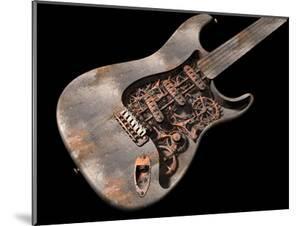 Grungy Steam Punk Guitar by paul fleet