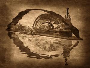 Grungy Steampunk Boat by paul fleet