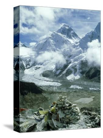 Mount Everest and Khumbu Icefall and Glacier, Nepal
