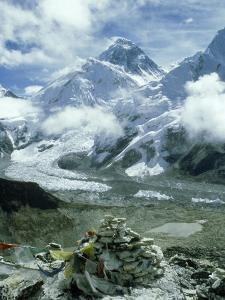 Mount Everest and Khumbu Icefall and Glacier, Nepal by Paul Franklin