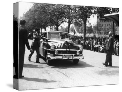 Paul Frere in a Chrysler Saloon V8, in the Mille Miglia, 1953