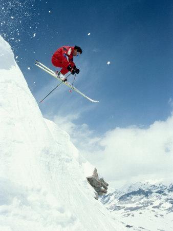 Airborne Alpine Skier, Crested Butte, CO