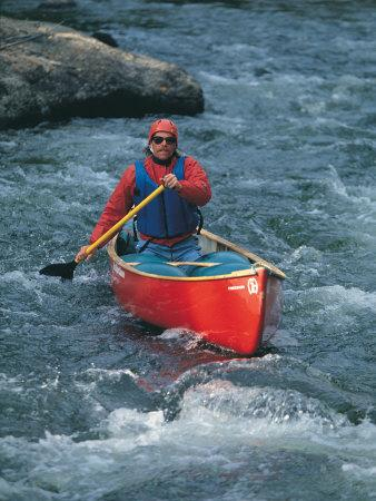 Man in Canoe on Tayler River