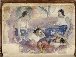 Album Noa Noa: Tahitian Women Seated in a Landscape by Paul Gauguin