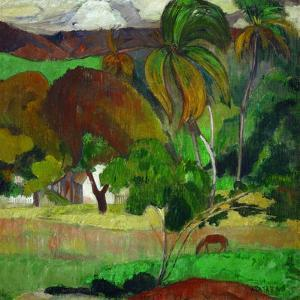 Apatarao (district of Papeete, capital of Tahiti),1893 Canvas, 49 x 54 cm I. N. 1831. by PAUL GAUGUIN