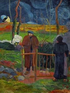 Bonjour, Monsieur Gauguin, Self-Portrait, Hommage a Courbet by Paul Gauguin