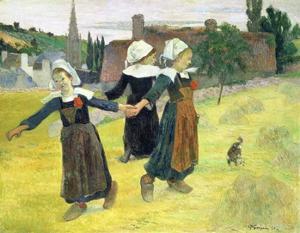 Breton Girls Dancing, Pont-Aven by Paul Gauguin