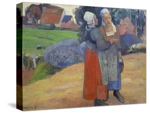 Breton Peasant Women Having a Conversation, 1894 by Paul Gauguin
