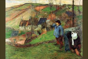 Breton Shepherd by Paul Gauguin