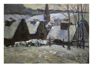 Breton Village in Winter, 1894 by Paul Gauguin