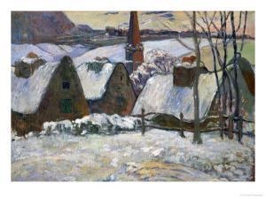 Breton Village Under Snow, 1894 by Paul Gauguin