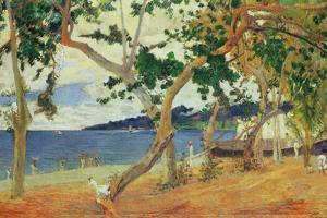 By the Seashore, Martinique, 1887 by Paul Gauguin