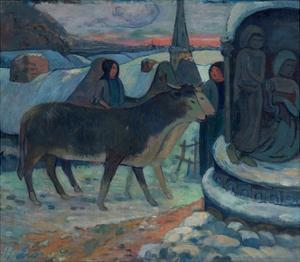 Christmas Night (The Blessing of the Oxen) by Paul Gauguin