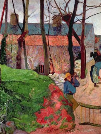 Cottage at Le Pouldu, 1890 by Paul Gauguin
