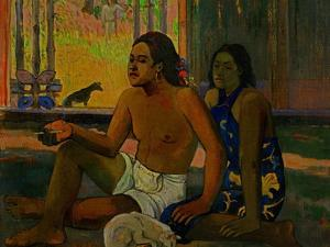 Do Not Work, Tahitians in a Room, 1896 by Paul Gauguin