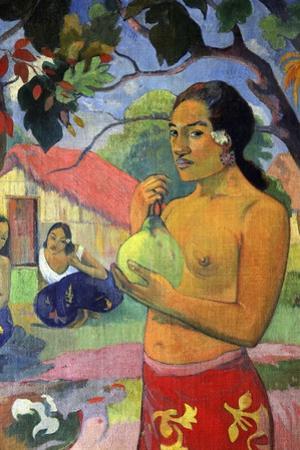 'Eu haere ia oe (Woman Holding a Fruit. Where Are You Going?)', 1893.  Artist: Paul Gauguin by Paul Gauguin
