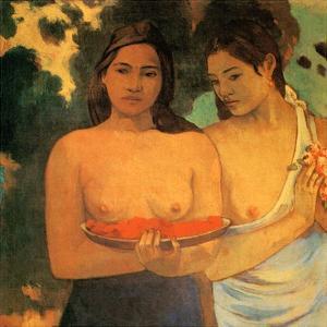 Femmes aux Mangues by Paul Gauguin