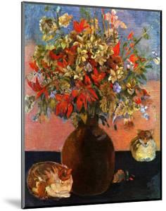 Flowers and Cats by Paul Gauguin