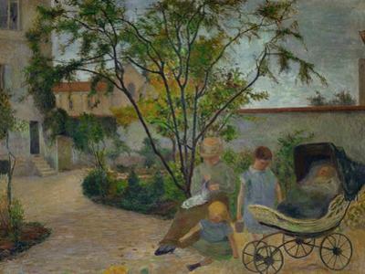 Garden in Vaugirard, or the Painter's Family in the Garden in Rue Carcel, 1881 by Paul Gauguin