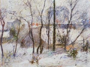 Garden under Snow, 1879 by Paul Gauguin