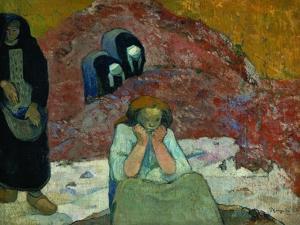 Gathering Grapes at Arles: Human Misery by Paul Gauguin