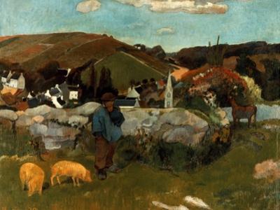 Gauguin: Swineherd, 1888 by Paul Gauguin