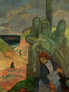 Green Christ, 1889, Inspired by the Calvaires, the Calvary-Sculptures of Brittany by Paul Gauguin