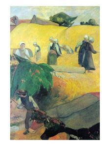 Harvest in Brittany by Paul Gauguin