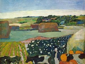 Haystacks in Brittany, 1890 by Paul Gauguin