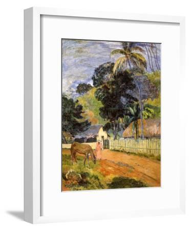 Horse on Road, Tahitian Landscape, 1899