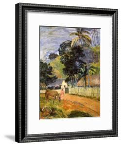 Horse on Road, Tahitian Landscape, 1899 by Paul Gauguin