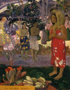 Ia Orana Maria (Hail Mar), 1891 by Paul Gauguin