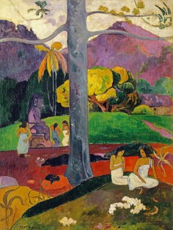 In Olden Times, Mata Mua, 1892 by Paul Gauguin