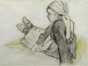 Jeune Bretonne assise by Paul Gauguin